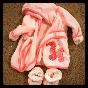 9 month baby robe and slippers